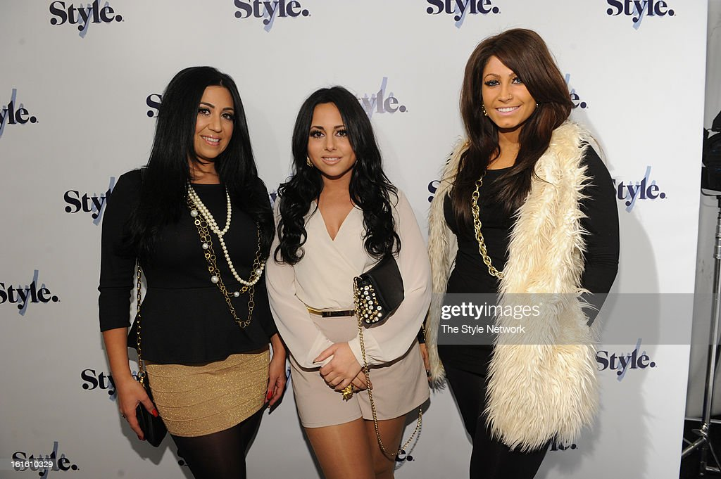 NETWORK - EVENTS -- Style Fashion Week Event -- Pictured: (l-r) Gigi Liscio, Olivia Blois Sharpe, and Tracy DiMarco at the Style Fashion Week Event on Tuesday, February 12, 2013 at Lincoln Center in New York --