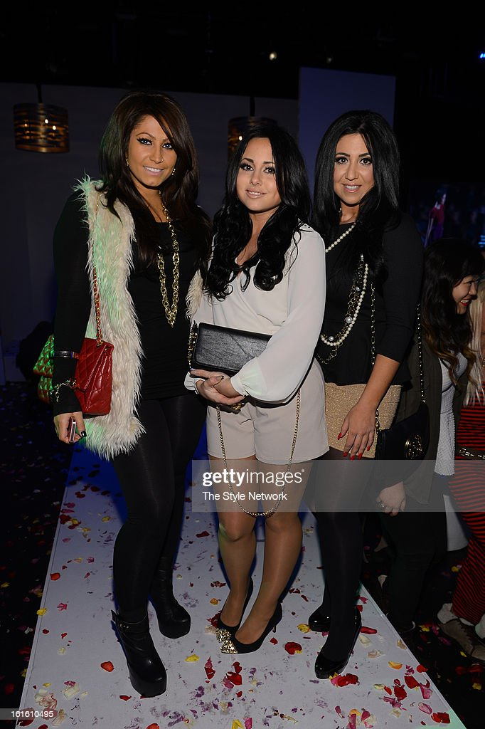 NETWORK - EVENTS -- Style Fashion Week Event -- Pictured: (l-r) Tracy DiMarco, Gigi Liscio, and Olivia Bloise Sharpe at the Style Fashion Week Event on Tuesday, February 12, 2013 at Lincoln Center in New York --