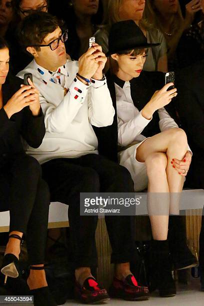 Style features director of Teen Vogue Andrew Bevan and model Coco Rocha attend the Noon By Noor fashion show during MercedesBenz Fashion Week Spring...