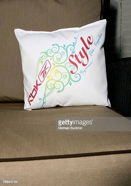 Style Los Angeles pillow is displayed at the RBK Style Lounge at Chateau Marmont on August 2 2007 in Hollywood California