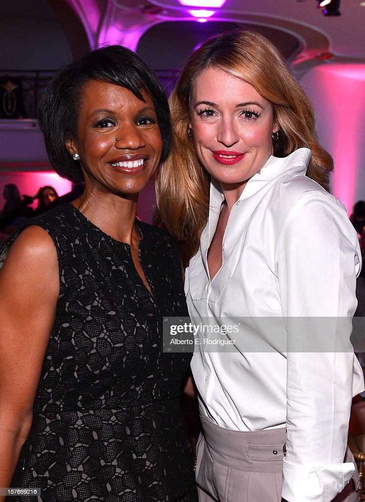 Style Network President Salaam Coleman Smith and actress <a gi-track='captionPersonalityLinkClicked' href=/galleries/search?phrase=Cat+Deeley&family=editorial&specificpeople=202554 ng-click='$event.stopPropagation()'>Cat Deeley</a> attend The Hollywood Reporter's 'Power 100: Women In Entertainment' Breakfast at the Beverly Hills Hotel on December 5, 2012 in Beverly Hills, California.