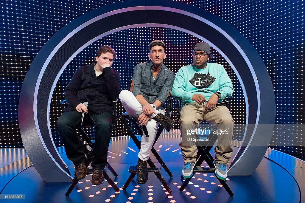 Styles P and Clinton Sparks visit BET's '106 & Park' at BET Studios on March 21, 2013 in New York City.