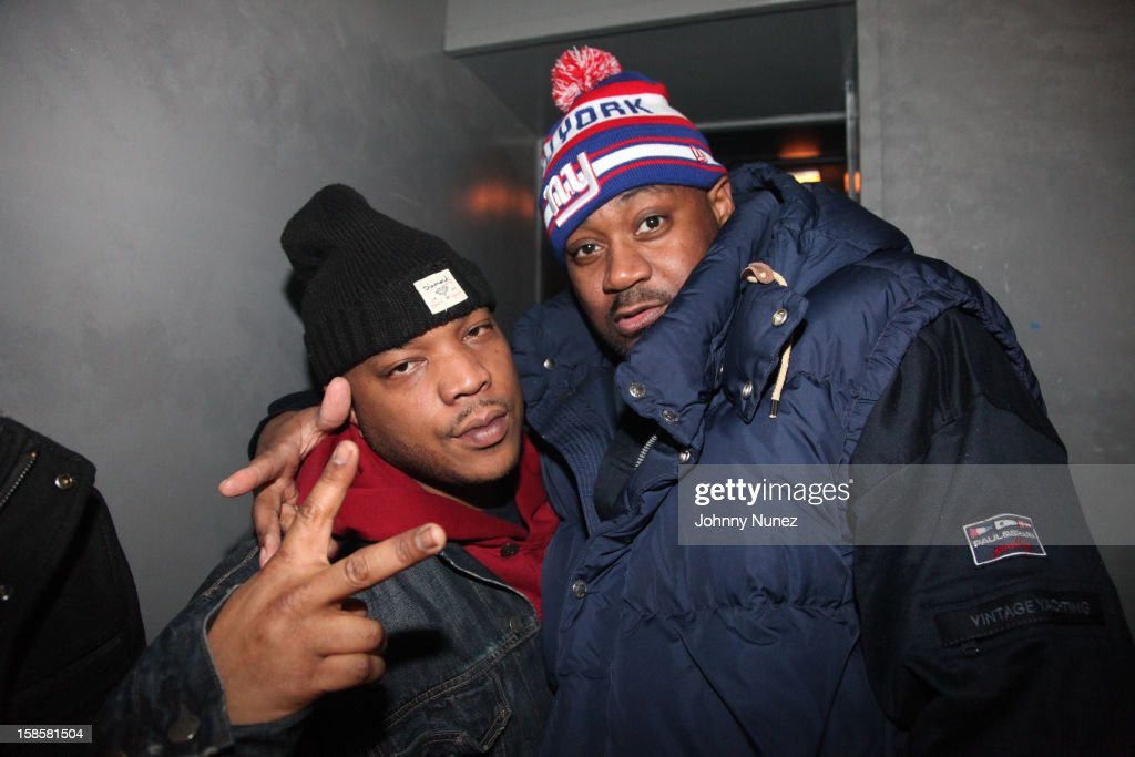 Styles P and Ghostface Killah backstage at Webster Hall on December 19, 2012 in New York City.