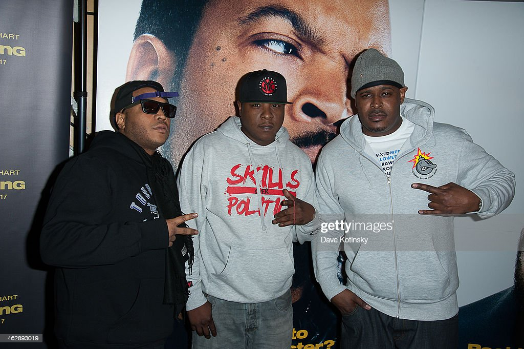 Styles P, <a gi-track='captionPersonalityLinkClicked' href=/galleries/search?phrase=Jadakiss&family=editorial&specificpeople=224058 ng-click='$event.stopPropagation()'>Jadakiss</a> and Sheek Louch attend the 'Ride Along' screening at AMC Loews Lincoln Square on January 15, 2014 in New York City.