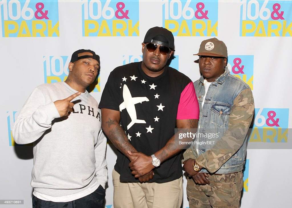 Styles P, Sheek Louch, and Jadakiss visit 106 & Park at BET studio on May 21, 2014 in New York City.