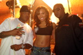 Styles P Yummy and Jadakiss during Yummy 'Come and Get It' Video Shoot Featuring Jadakiss July 19 2005 at 27th Street 11th Avenue in New York New...