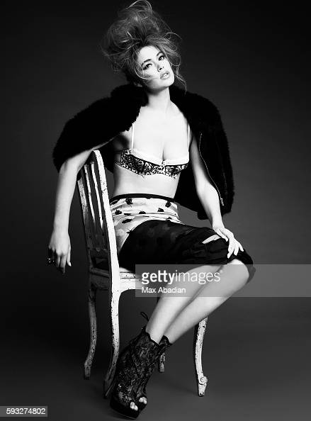 Elizabeth Cabral Hair Frankie Foye Makeup Susan Houser Cashmere/faux fur jacket and silk skirt by Nina Ricci Bra by Victoria's Secret Ring by Fenton...