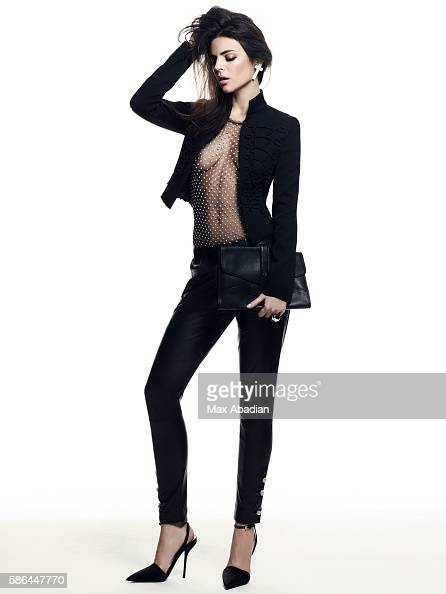 Gabriela Bilbao Hair Seiji Makeup Hung Vanngo Cross earring by Zadig Voltaire Jacket by Zara Silk tulle bodysuit and leather pants by Blumarine...