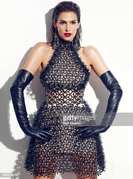 Juliana Schiavinatto Hair Marcus Francis Makeup Jo Baker Manicure Tom Bachik Digitally fabricated 3D dress by Iris Van Herpen in collaboration with...