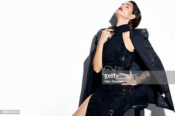Juliana Schiavinatto Hair Marcus Francis Makeup Jo Baker Manicure Tom Bachik Acetate and crystal dress by Mugler Cotton coat dress and leather belt...