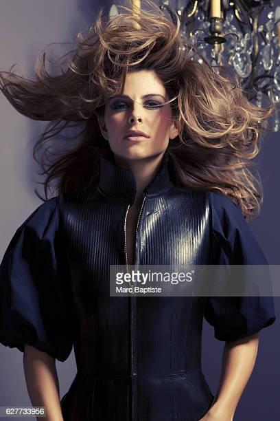 Julie Matos Makeup Annie Ing Hair Johnny Stuntz Manicure Tracy Clemens Black zipup dress by Fendi