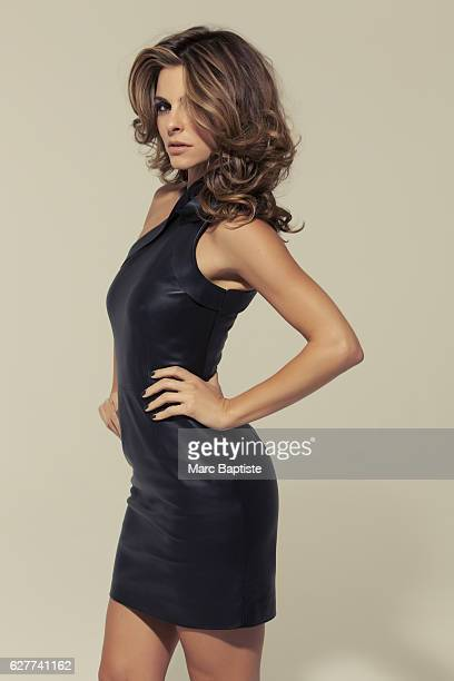 Julie Matos Makeup Annie Ing Hair Johnny Stuntz Manicure Tracy Clemens Leather dress by Valentino