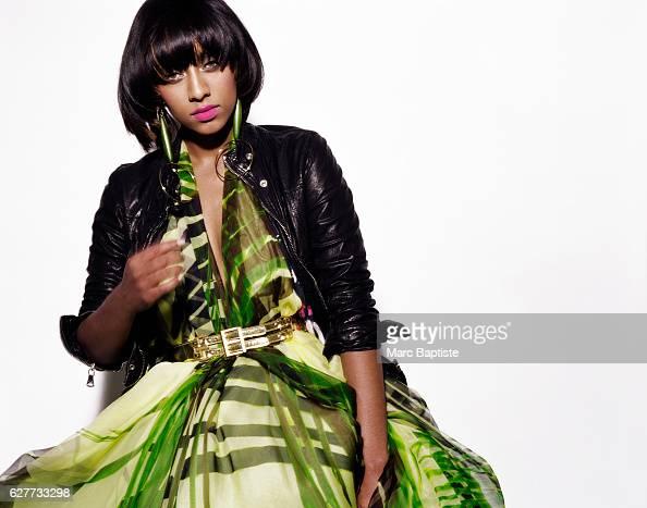 Kithe Brewster Makeup Aminata Gueye Jacket by DG Dress by Rubin Singer Belt by Derercuny Earrings are Keri's own