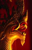 Stylised dragon head in Wat Xieng Thong, Luang Prabang, Laos, South-East Asia
