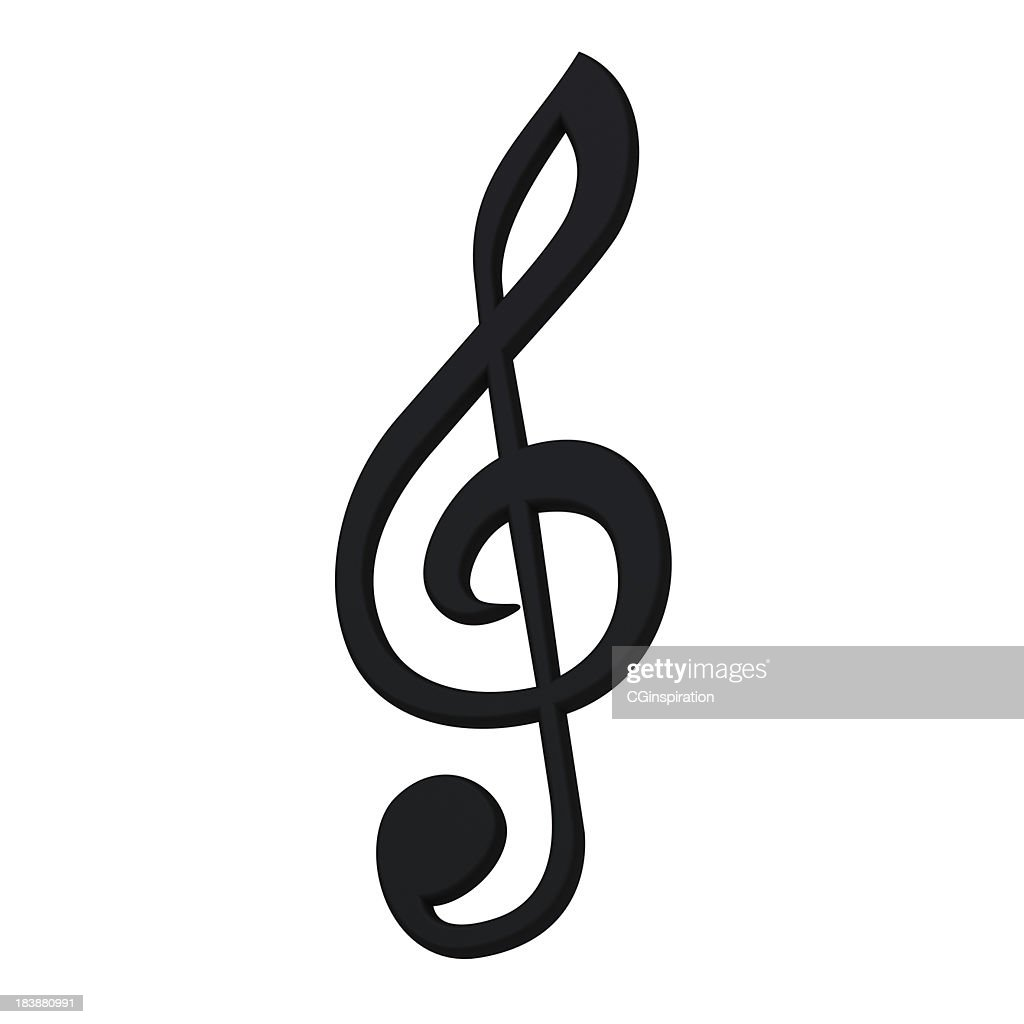 Stylish 3d music symbol