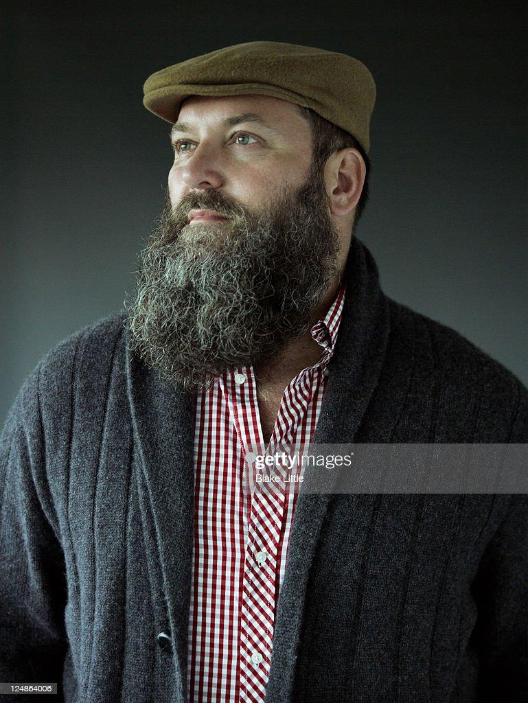 Stylish Bearded Man : Stock Photo