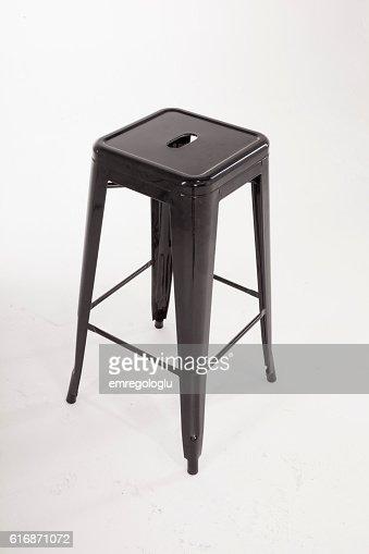 Stylish black metal chair : Stock Photo