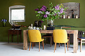 A stylish dining room