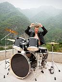 stylish drummer