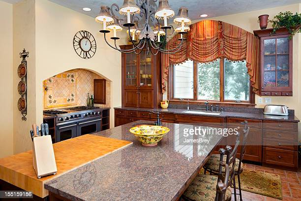Stylish Kitchen Interior Rich With Color and Texture