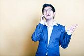 Stylish  man on the telephone