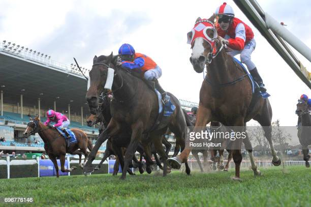 Stylish Miss ridden by Beau Mertens wins the Kane Constructions Handicap at Moonee Valley Racecourse on June 17 2017 in Moonee Ponds Australia