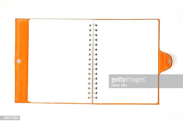 Stylish Orange Leather Notebook
