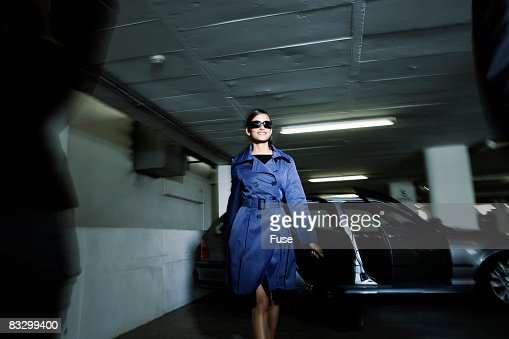 Stylish people in parking garage stock photo getty images for Garage a persan