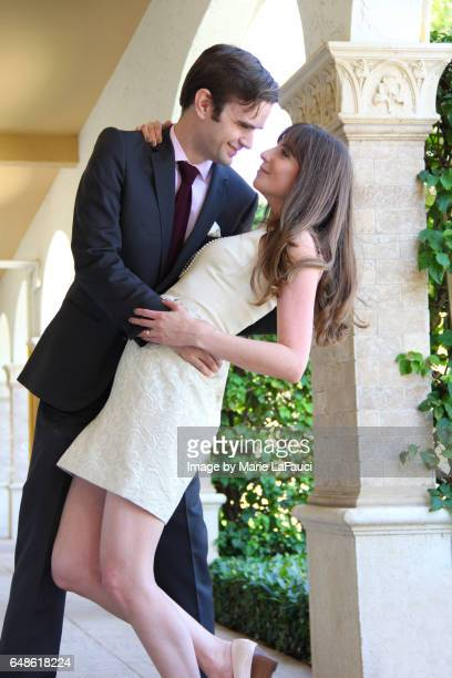 Stylish romantic couple dancing