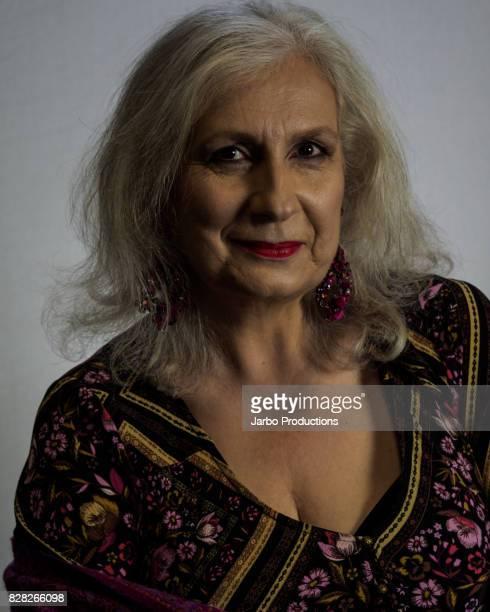 Stylish Senior Smiling Portrait