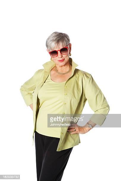 Elegante Senior Frau In Sonnenbrille