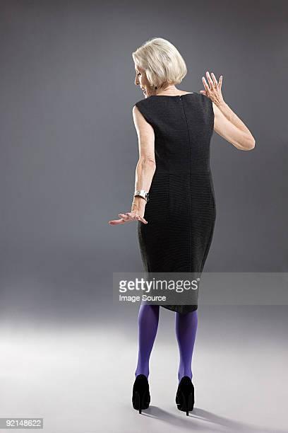 Elegante senior Frau