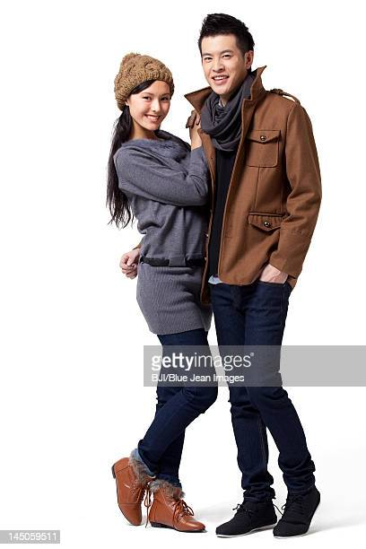 Stylish young man and young woman