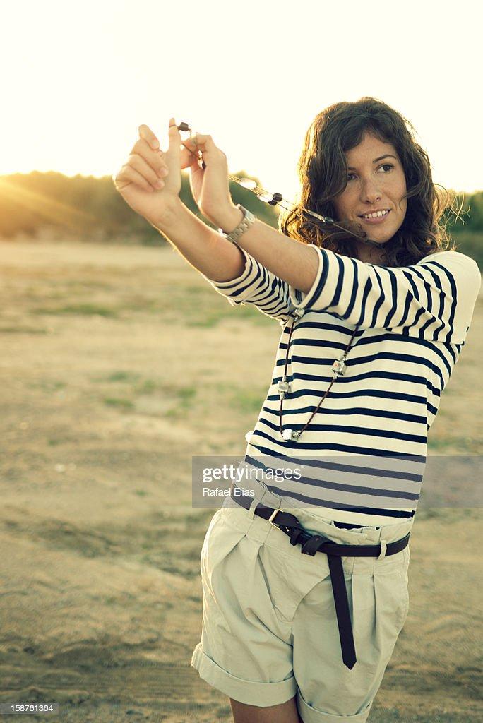 Stylish young woman : Stock Photo