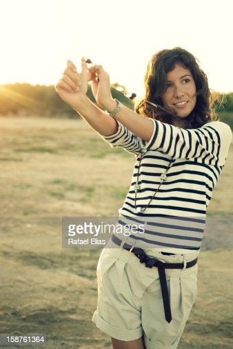 Stylish young woman : Foto de stock