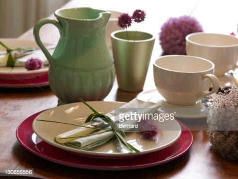 Stylishly presented tableware