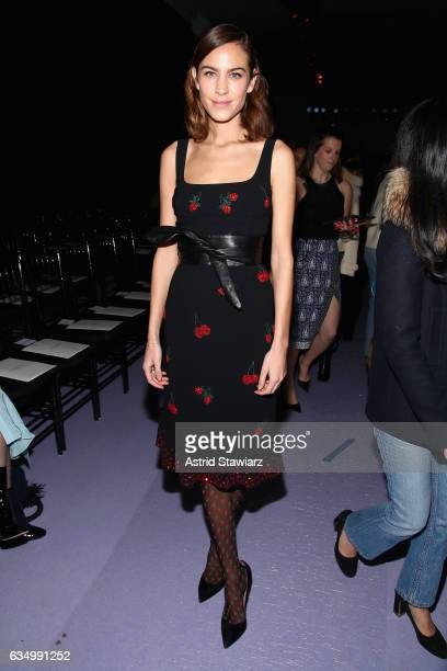 Stylist Alexa Chung attends the Altuzarra fashion show during New York Fashion Week on February 12 2017 in New York City