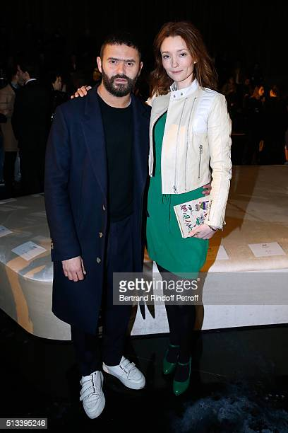Stylist Alexandre Mattiussi and Model Audrey Marnay attend the HM Studio show as part of the Paris Fashion Week Womenswear Fall/Winter 2016/2017 on...
