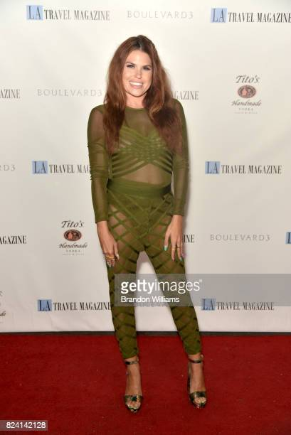 Stylist Ali Levine attends the party for the unveiling of Los Angeles Travel Magazin's 'Endless Summer' issue at Boulevard3 on July 28 2017 in...