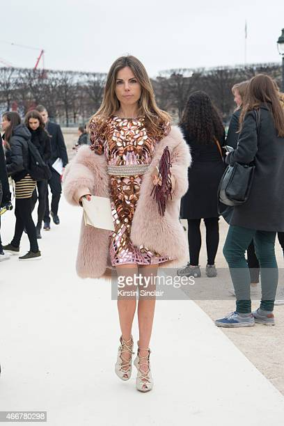 Stylist and designer Erica Pelosini on day 8 of Paris Collections Women on March 10 2015 in Paris France