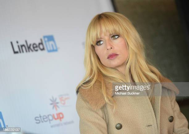 Stylist and Entrepreneur Rachel Zoe attends the LinkedIn Discussion Series 'What Women Want @ Work' at Soho House on October 29 2013 in West...