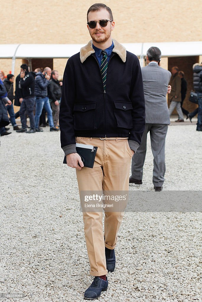 Stylist Andrea Porro is seen at Pitti Immagine Uomo 83 on January 9, 2013 in Florence, Italy.