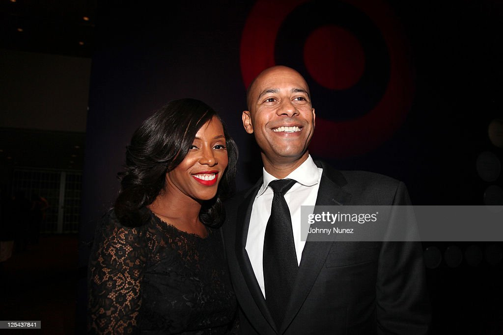 Stylist, author, and designer June Ambrose and husband Marc Chamblin attend Harlem's Fashion Row at Jazz at Lincoln Center on September 16, 2011 in New York City.