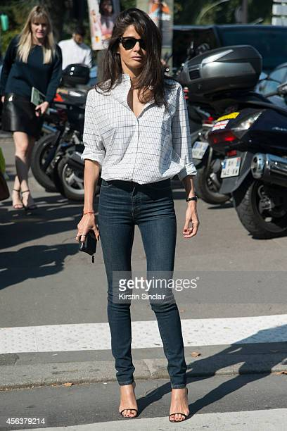 Stylist Barbara Martelo on day 6 of Paris Collections Women on September 28 2014 in Paris France