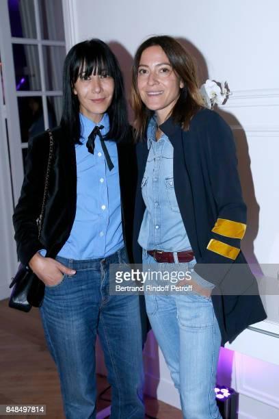 Stylist Bouchra Jarrar singer Keren Ann attend the Dinner after Sylvie Vartan performed at L'Olympia on September 16 2017 in Paris France