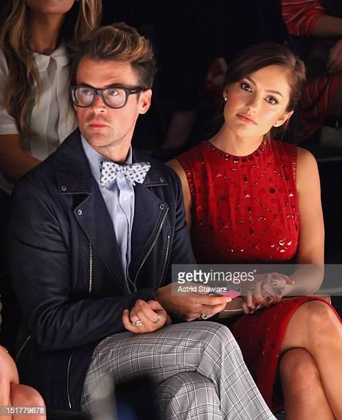 Stylist Brad Goreski and actress Minka Kelly attend TRESemme at Jenny Packham Spring 2013 MercedesBenz Fashion Week at The Studio at Lincoln Center...