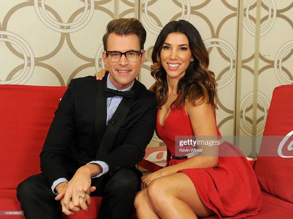 Stylist <a gi-track='captionPersonalityLinkClicked' href=/galleries/search?phrase=Brad+Goreski&family=editorial&specificpeople=3255296 ng-click='$event.stopPropagation()'>Brad Goreski</a> (L) and TV personality <a gi-track='captionPersonalityLinkClicked' href=/galleries/search?phrase=Adrianna+Costa&family=editorial&specificpeople=2556170 ng-click='$event.stopPropagation()'>Adrianna Costa</a> pose during the 40th Anniversary American Music Awards nominations press conference at the JW Marriott Los Angeles at L.A. LIVE on October 9, 2012 in Los Angeles, California.