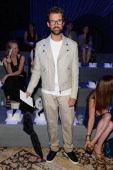 Stylist Brad Goreski attends the Marc Jacobs Spring 2014 fashion show at The New York State Armory 68 Lexington on September 12 2013 in New York City