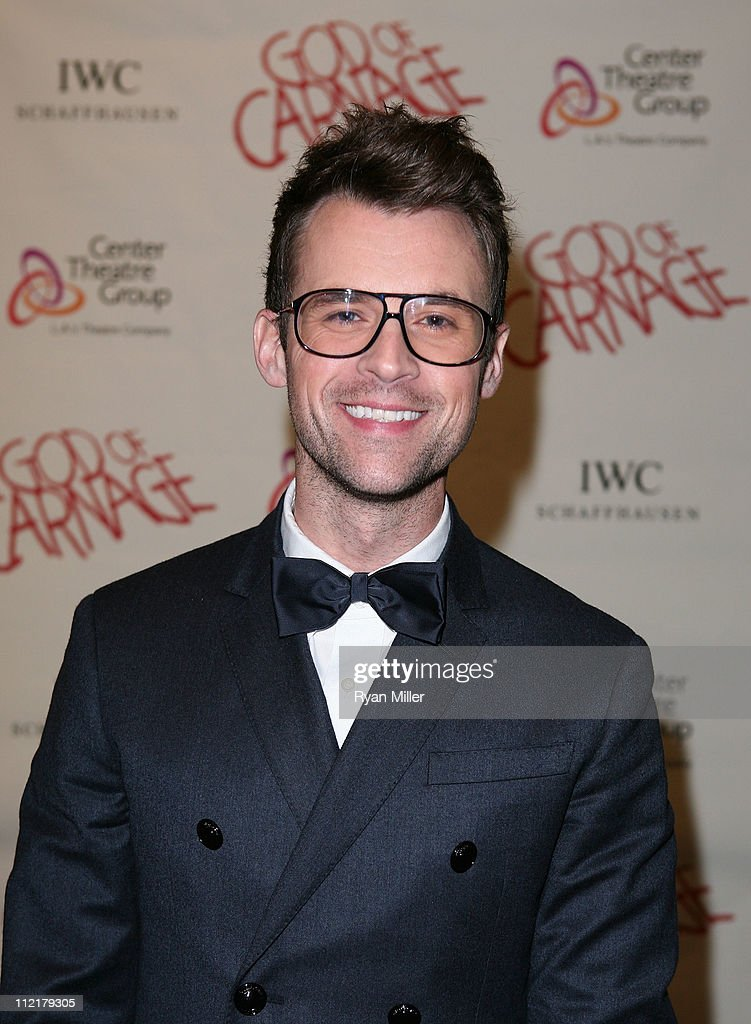 Stylist Brad Goreski poses during the arrivals for the opening night performance of 'God of Carnage' at Center Theatre Group's Ahmanson Theatre on April 13, 2011 in Los Angeles, California.