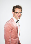 Stylist Brad Goreski poses for a portrait at the 2015 amfAR Inspiration Gala New York at Spring Studios on June 16 2015 in New York City